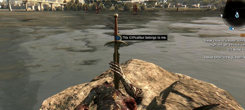 Где найти меч EXPcalibur в Dying Light