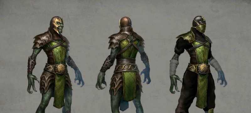 Геймплей и концепты Китаны и Рептилии в Mortal Kombat X