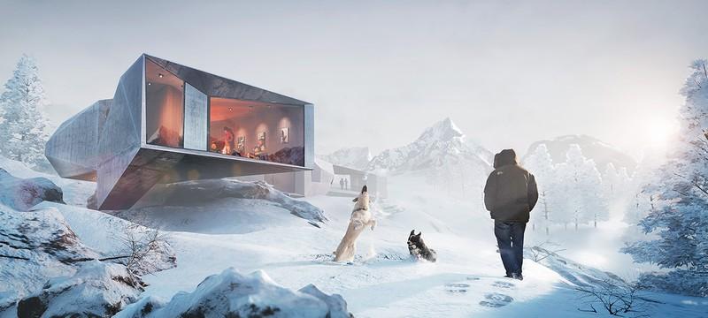 Зимний Шале - артворк на Unreal Engine 4
