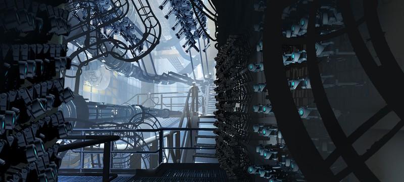 Пара скриншотов VR-демо Portal на Source 2