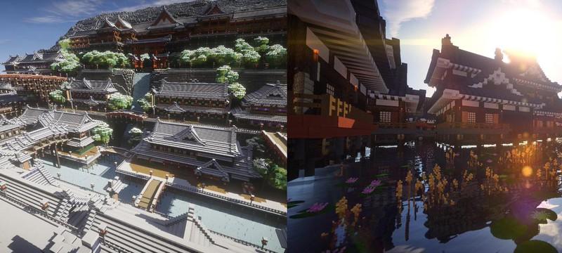 Средневековая Япония прекрасна даже в Minecraft