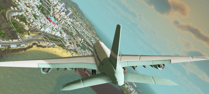 Моддер добавил управляемый самолет в Cities: Skylines