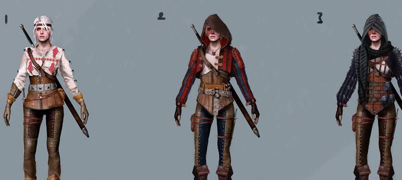 Концепт-арты Цири для The Witcher 3: Wild Hunt