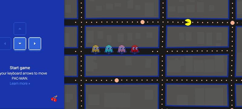 Pacman в Google Maps