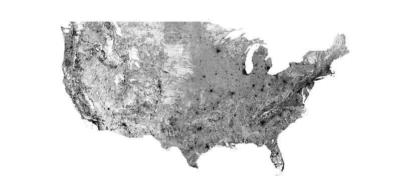Самая подробная карта США из дорог