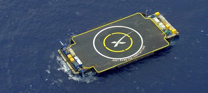 Falcon 9 снова разбилась при посадке на баржу