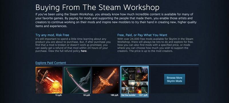 В Steam появилась продажа модов для Skyrim