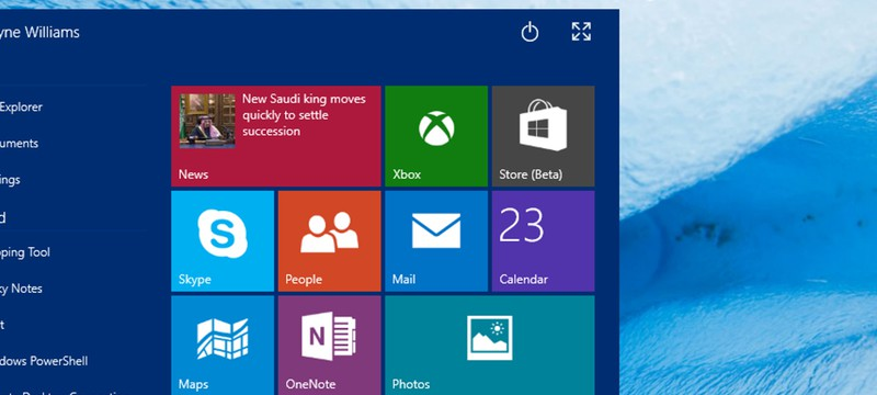 Скриншоты обновленного интерфейса Windows 10