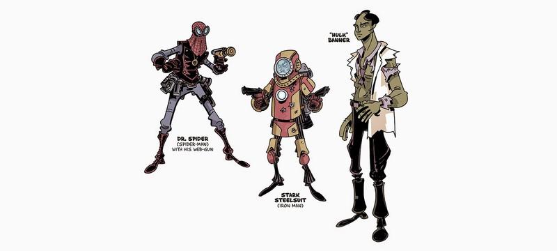Редизайн Avengers в виде ретро-героев