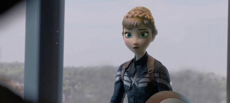 Мэшап Captain America и Frozen