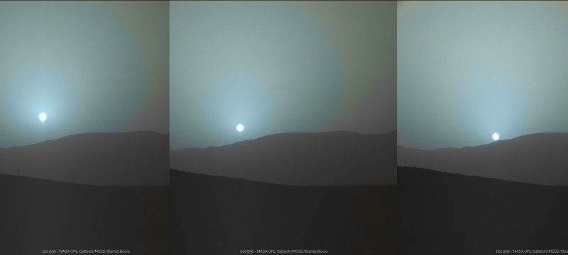 Новые фотографии Марсианского заката