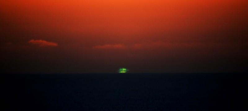 Зеленая Вспышка заката