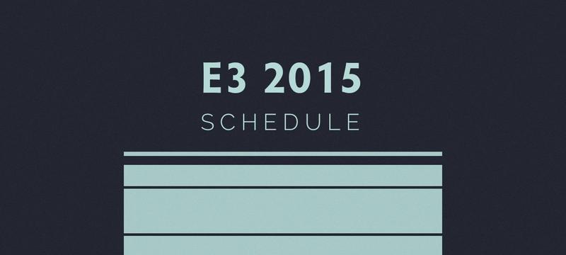 Расписание пресс-конференций E3 2015