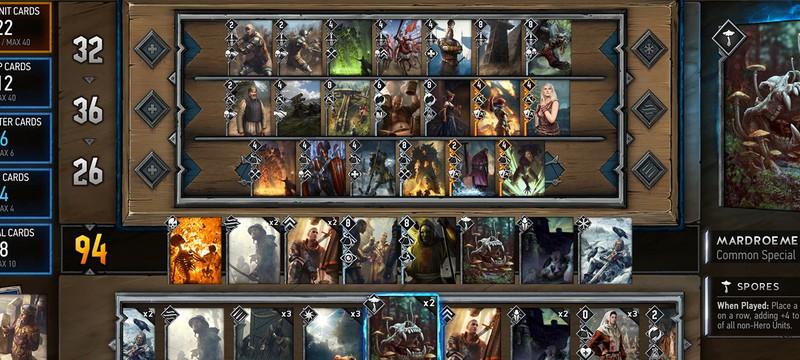 17 минут геймплея Gwent: The Witcher Card Game