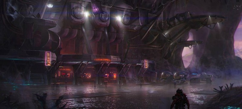 Космическая стоянка на новом концепте Mass Effect: Andromeda