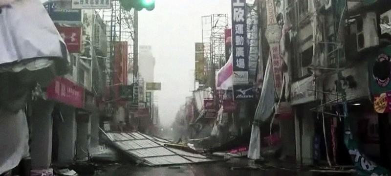 Чудовищная мощь тайфуна