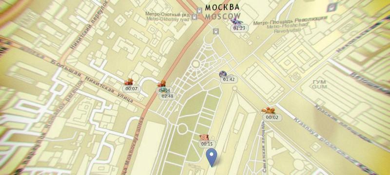 Интерактивная карта локаций и частоты появления покемонов в Pokemon Go