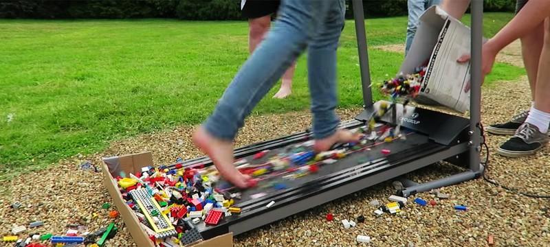 Беговая дорожка с LEGO на время