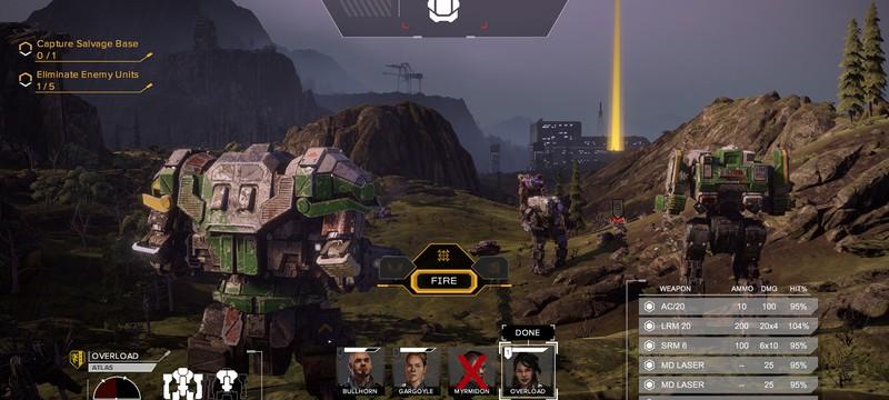 Первое геймплейное видео и скриншоты Battletech