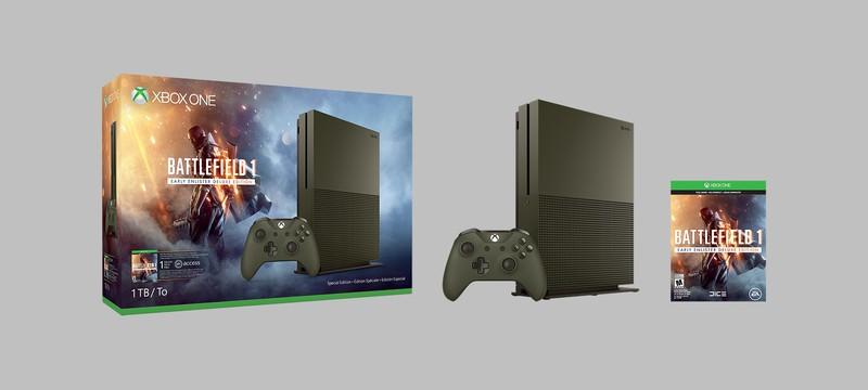 Специальные бандлы Xbox One S с Battlefield 1