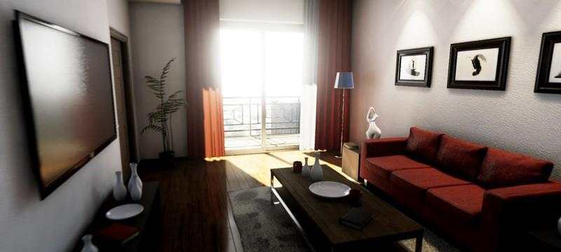 Техническая демка Unreal Engine 4 с демонстрацией интерьеров