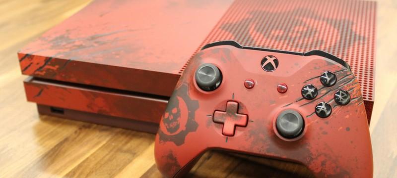Фото и видео распаковки специальной Gears of War 4-версии Xbox One S