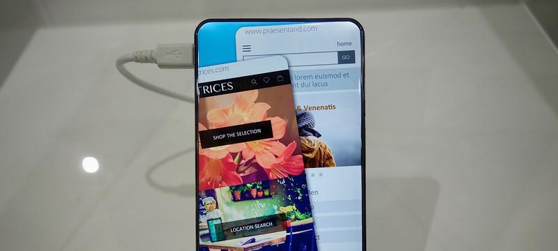 Sharp показала концепт Android-телефона с потрясающим дисплеем