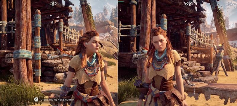 Сравнение Horizon: Zero Dawn на PS4 Pro и PS4