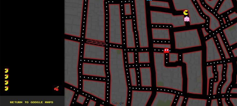 В Pac-Man снова дадут поиграть на Google Maps