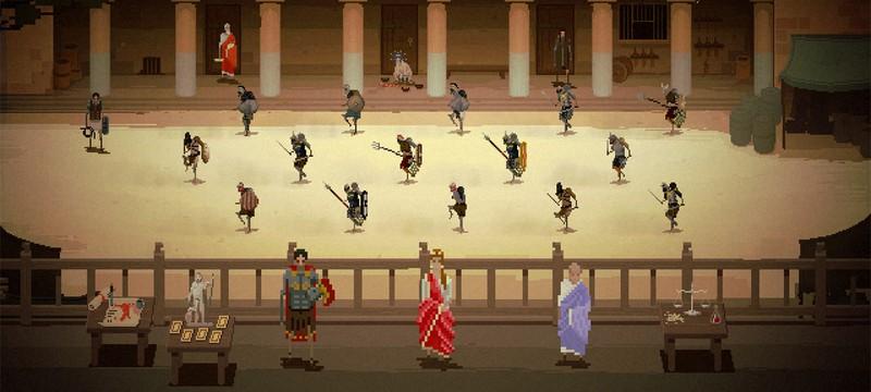 Пиксельный симулятор школы гладиаторов — это прекрасно