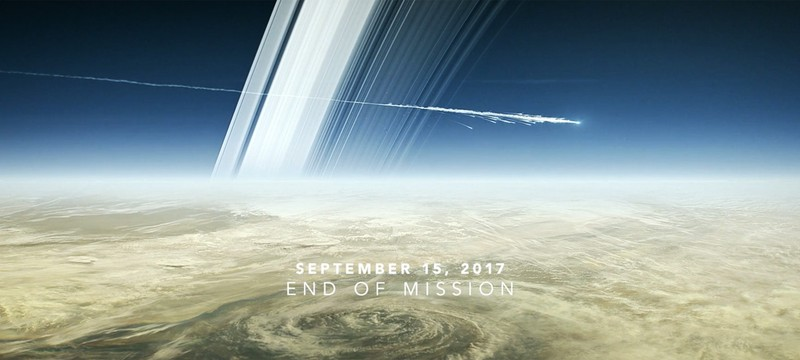 NASA показала, как аппарат Cassini погибнет в атмосфере Сатурна