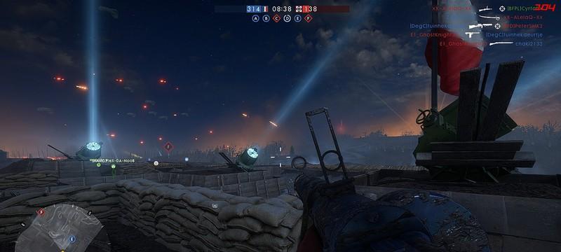 Геймплей на ночной премиум-карте Battlefield 1 — Nivelle Nights