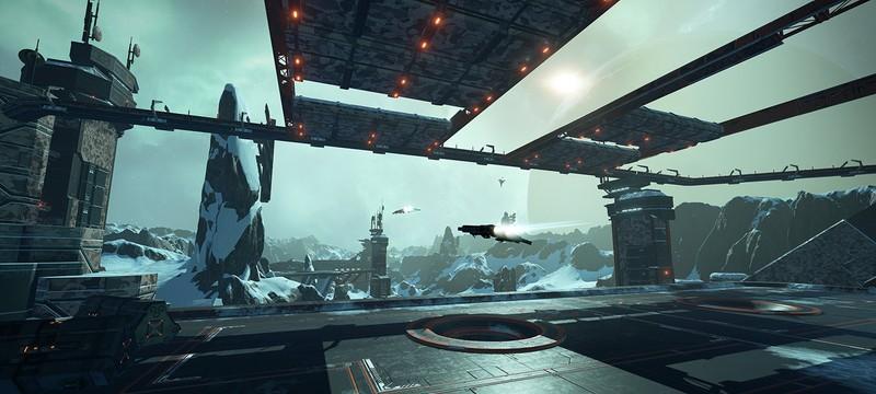 Бои на горной базе в трейлере обновления Groundrush для EVE: Valkyrie