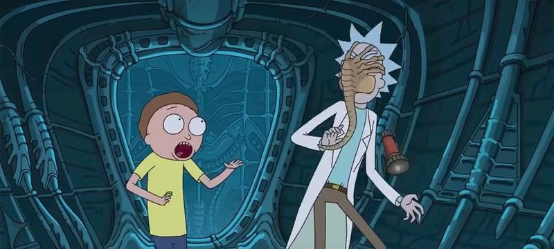 """Рик и Морти спасают человечество в промо """"Чужой: Завет"""""""