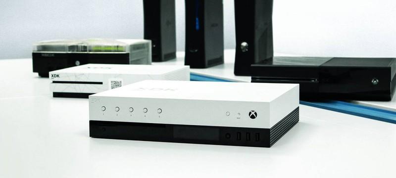 Взгляд на живой  прототип Xbox Scorpio
