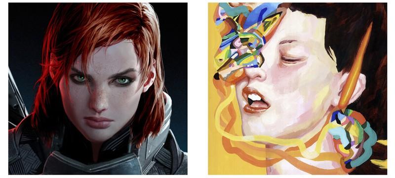Двойники известных игровых персонажей в искусстве