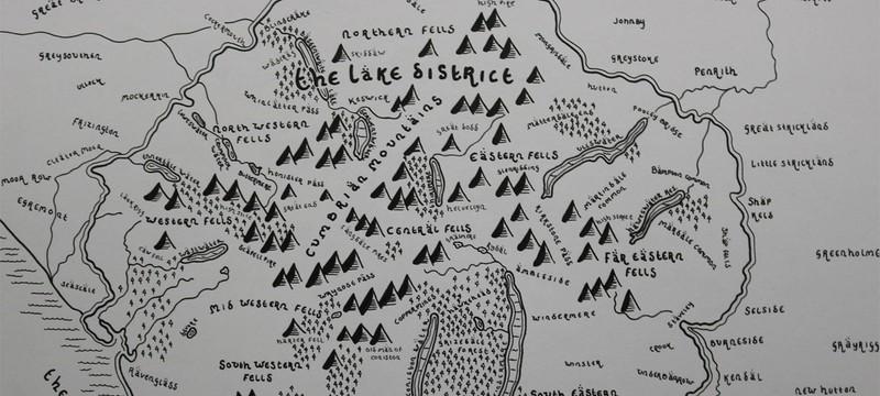 """Национальные парки Британии в стиле карт """"Властелина Колец"""""""