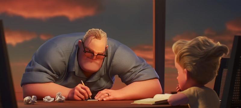 В новом трейлере Incredibles 2 Боб сидит дома, пока жена спасает мир