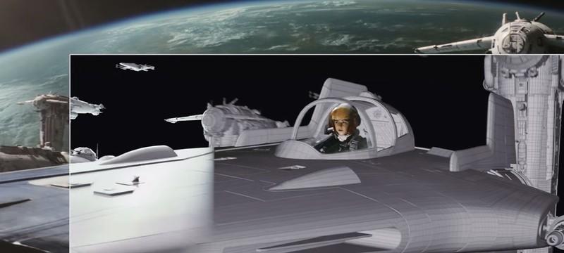 """Визуальные эффекты открывающей битвы из """"Звездных войн: Последние джедаи"""""""