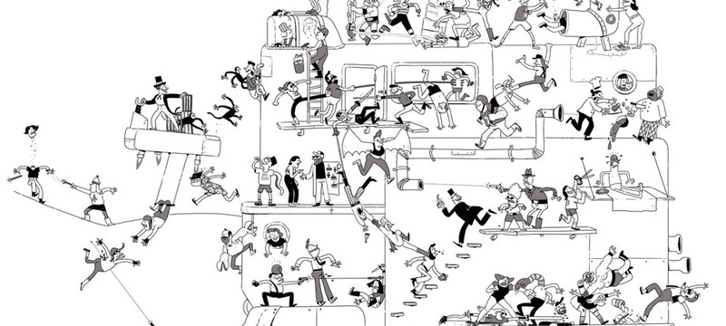 В день по драчуну — шикарный челлендж британского художника
