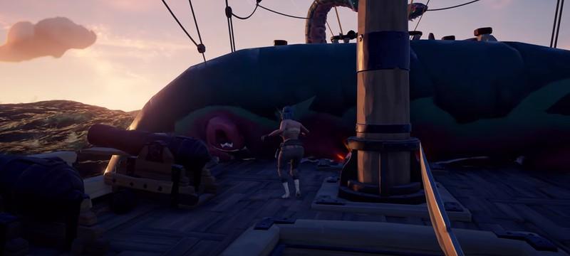 Игроки сразились с Кракеном в Sea of Thieves, и это не слишком увлекательно