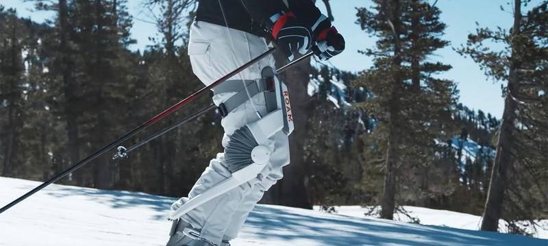 Для лыжников придумали снимающий нагрузку экзоскелет