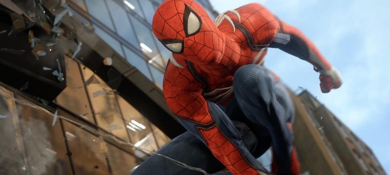 Перемещение по городу в новом геймплее Spider-Man