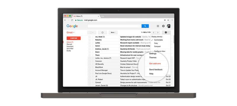 Скриншоты будущего обновления дизайна Gmail