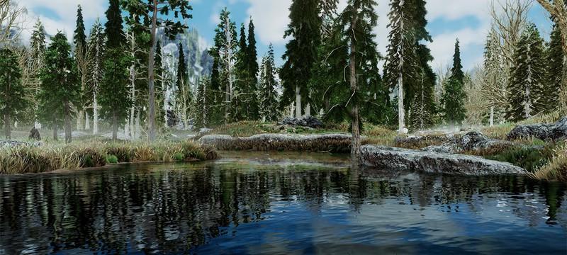 Новый мод добавляет 2K-текстуры ландшафта в Skyrim