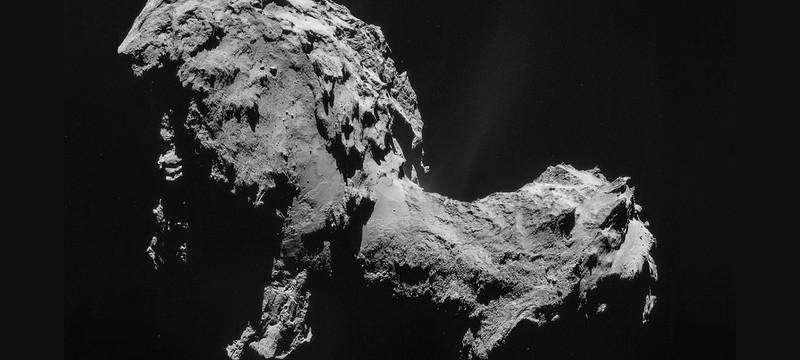 """Космический """"снегопад"""" на гифке с поверхности кометы"""
