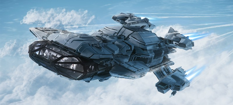 Демонстрация планеты в Star Citizen и трейлеры кораблей