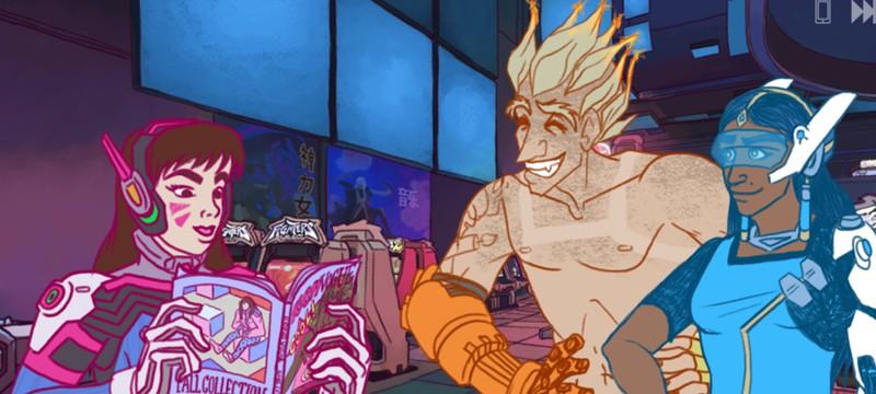 Фанаты Overwatch создали симулятор знакомств с Симметрой в главной роли