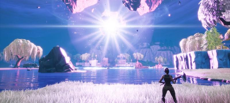 В Fortnite взорвался куб — игровая карта вновь изменилась