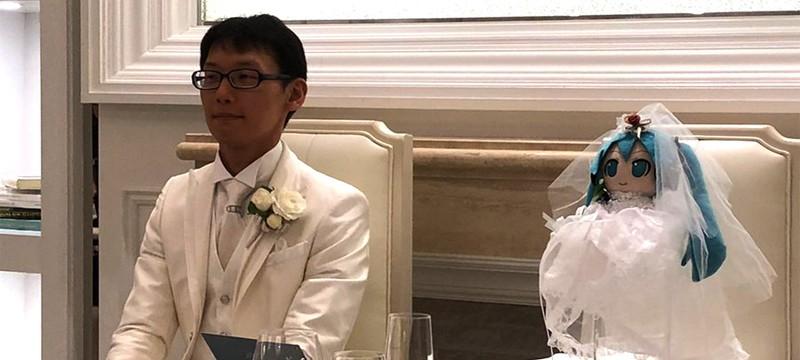 Японец потратил более 16 тысяч долларов для свадьбы на Хатсуне Мику